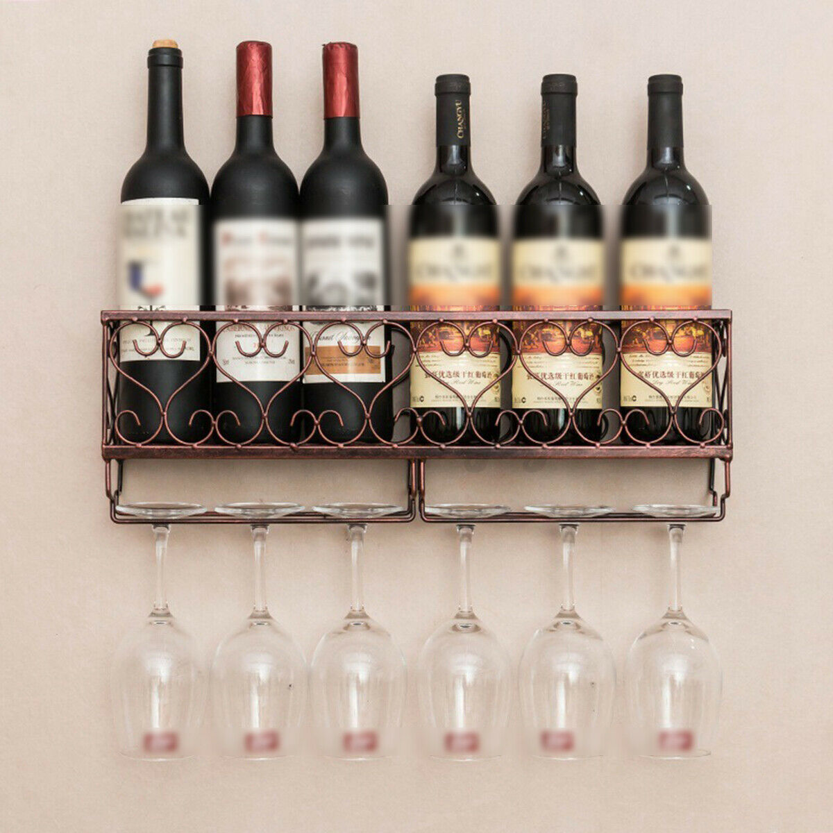 Wildon Home Sutton 7 Bottle Wall Mounted Wine Rack For Sale Online Ebay