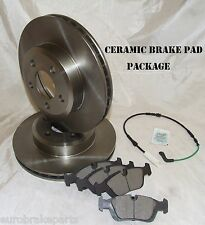 REAR DISC BRAKE ROTORS + CERAMIC PADS & SENSOR BMW X5 E53 3.0L + 4.4i 2001-2007