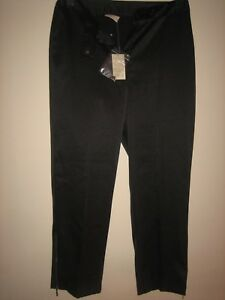 P26-NEW-amp-TAGS-FOR-WOMENS-BLACK-STRAIGHT-TROUSERS-SIZE-12-LEG-25-034-ZIP-BOTTOM