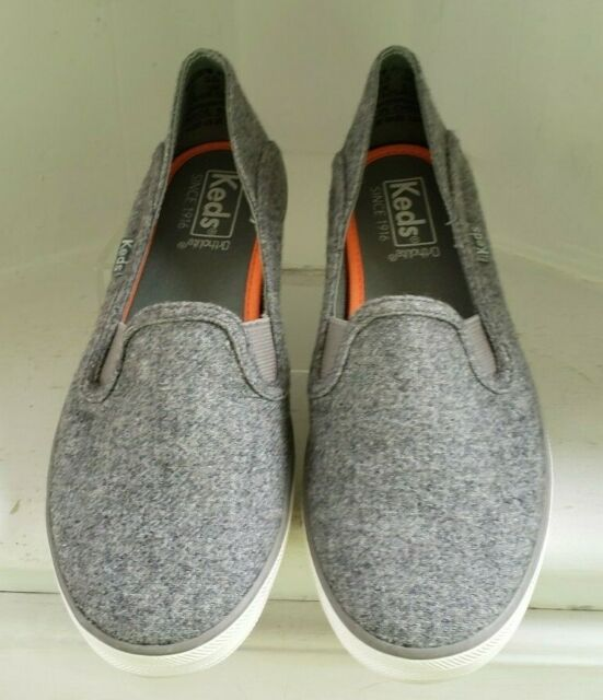 Keds Womens Wf57257 Gray Loafers Size