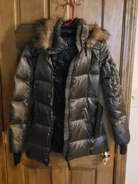 S13 Womens Gramercy Mid Length Down Puffer with Faux Fur Hood