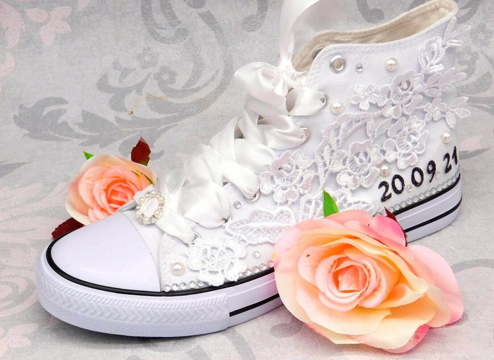 Wedding Shoes Bridal Shoes Sneaker Chucks Handmade