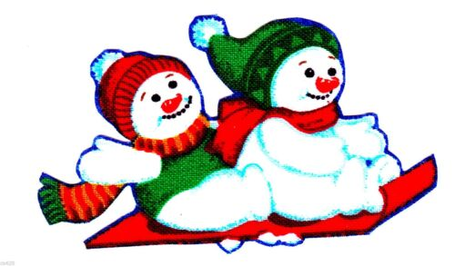 Snowman heat transfer iron on winter christmas holiday  2.5 to 5 inch