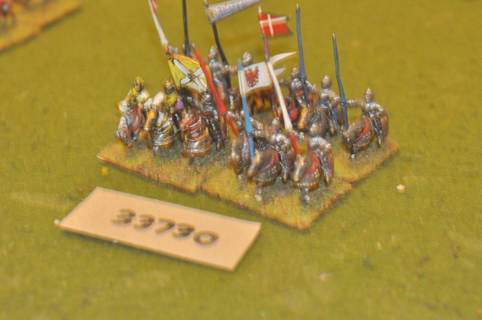15mm medieval   swiss - allied knights 12 figures - cav (33730)