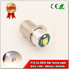 1PCS Maglite Torch Flashlight PR / P13.5S 5W LED upgrade bulb lamp DC5-24V 6000K