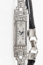 Antique 1920s $5000 2ct VS H Diamond Platinum ART DECO Ladies Dress Watch