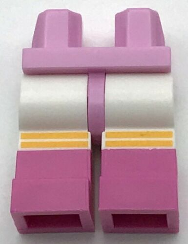 Lego New Bright Pink Hips and White Legs with Dark Pink Boots Bright Light
