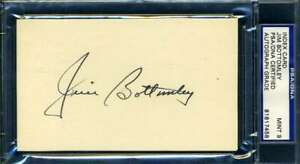 Jim Bottomley Mint 9 PSA DNA Coa Autograph Hand Signed 3x5 Index Card