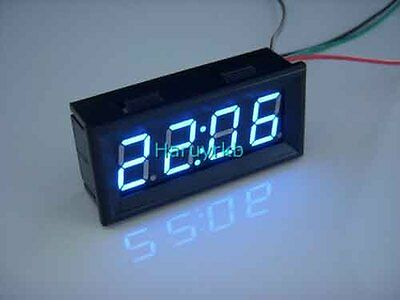 "0.56"" Digital Clock blue LED Panel Display Time Watch DC 12/24V Battery Powered"