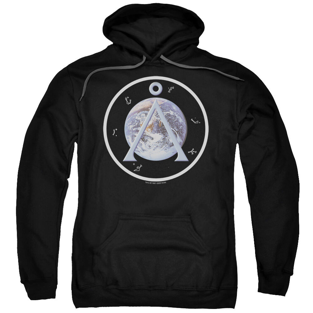 Stargate SG-1 Show EARTH EMBLEM Licensed Adult Sweatshirt Hoodie