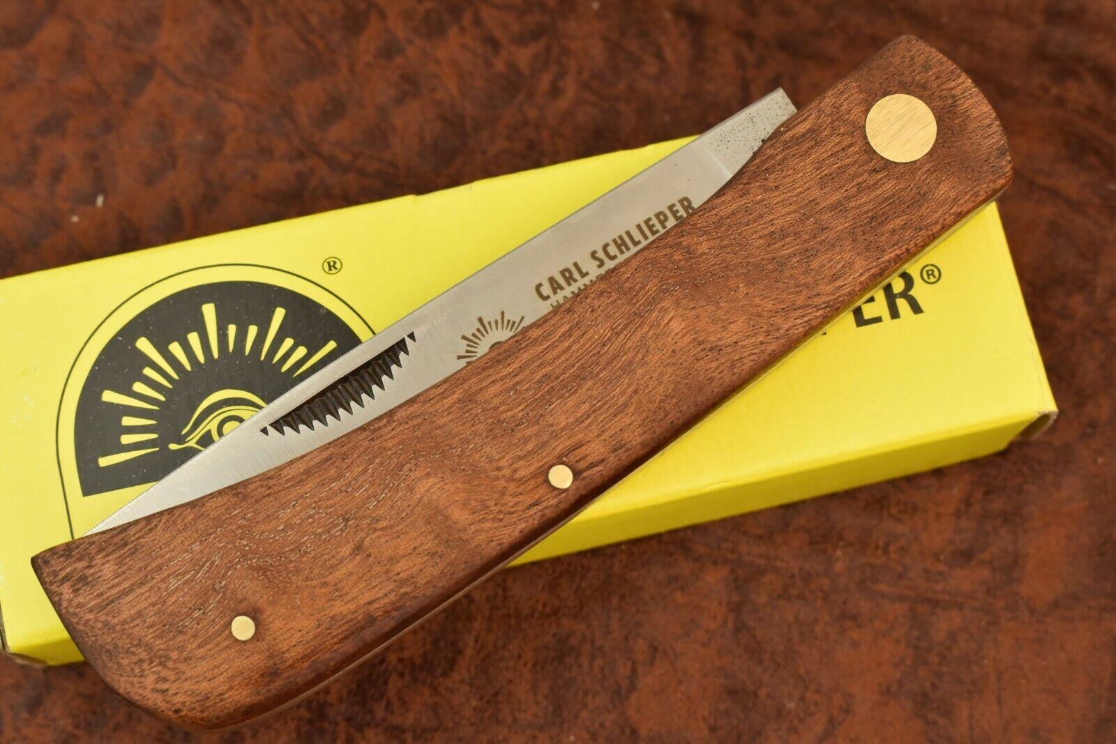 GERMAN EYE BRAND CARL SCHLIEPER JUMBO WOOD SODBUSTER KNIFE SOLINGEN GERMANY 9558