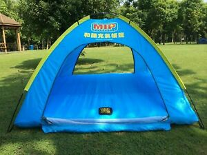 Water Floating and Anti Snake. HMSPORT Inflatable Family Tent 4 Person large space Waterproof for Outdoor Camping Car Travel with Zippered Door and Inflatable Bladder