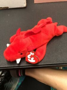 6420626eafbb1b Image is loading TY-Beanie-Baby-GRUNT-the-Razorback-2nd-Generation-