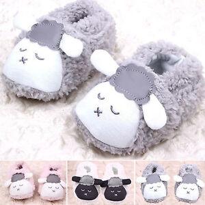 Tout-petit-bebe-rampant-Chaussures-garcon-enfants-mignon-peluche-agneau