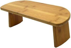 Bamboo Meditation Kneeling Bench - Best Design - Folding Legs Portable Ergonomic