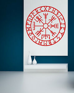 Vegvisir-Pegatina-De-Pared-Wall-Calcomania-Nordico-Icono-De-Proteccion