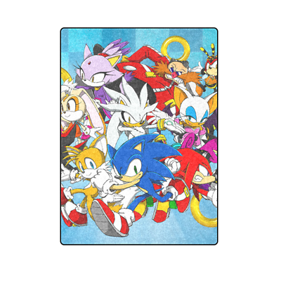 Sonic The Hedgehog Bed Sofa Soft Throw Fleece Blanket