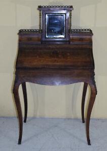 antica ribalta Luigi Filippo 1850 in palissandro con intarsi francese