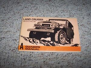 1973 toyota land cruiser fj40 fj55 original owner s owners user rh ebay com fj40 owners manual fj40 owners manual