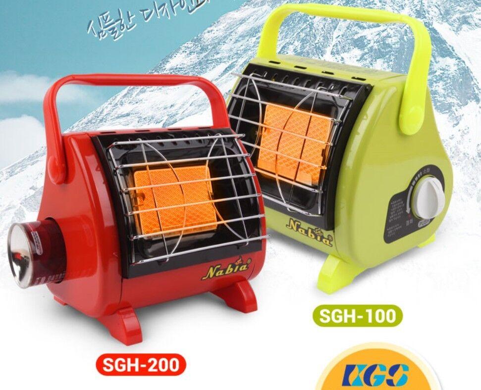 NABIA Portable Gas Heater SGH 100 / SGH 200 Convertable Cooker Small & Powerful