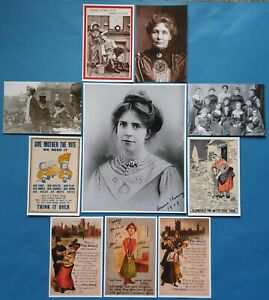 Suffragette-Suffrage-Womens-Vote-Print-amp-Postcard-Collection-Set-10-Items