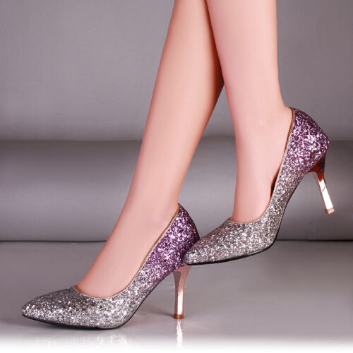 Details about  /Bride/'s Wedding Shoes Pointy Toe Stiletto Rhinestone Bling Bling Ladies Party