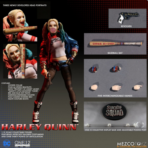 Dc mezco harley quinn  12 - skala action - figur