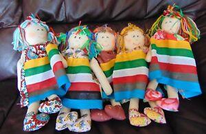"""5 X Nouveau 14"""" Traditional Handmade Rag Dolls – Assorted Designs-afficher Le Titre D'origine Bonne Conservation De La Chaleur"""