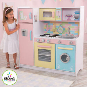 NEW KIDKRAFT DELUXE CULINARY PASTEL WOODEN PLAY KITCHEN KIDS ...
