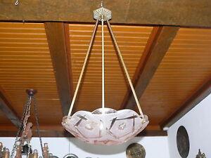 Art-Deco-Lampe-Deckenlampe-Original-ca-1925-Frankreich