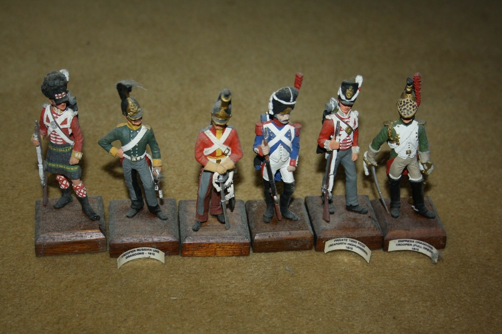 Clydecast Napoleonic  figures x 6  British made  soldiers army