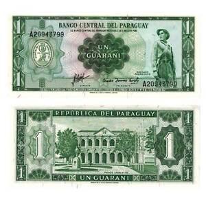 Pick-193b-Paraguay-1-Guaranies-1952-PICK-UNC-379541vvv