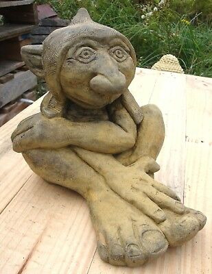 Big Nose Goblin Troll stone garden ornament original design frost proof 25cm//10/""