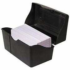 Advantus Stackable Flip Top 3 X 5 Index Card Holder 300 Card Capacity Box Bla