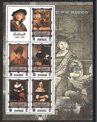 Ehrgeizig Rembrandt Michelnummer Block 138 Postfrisch Briefmarken kunst 540 Motive