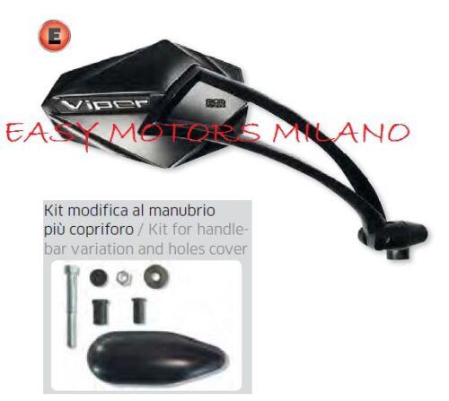 SPECCHIO SPECCHIETTO RETROVISORE VIPER DX YAMAHA TMAX T-MAX 500 2008/>11 NERO