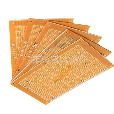 5PCS 9x15cm Prototype Paper Boards PCB Blank Printed Circuit Board DIY E0Xc