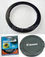 For Canon Powershot Sx50 Hs 67mm Filter Adapter Ring + Uv Filter + Lens Cap