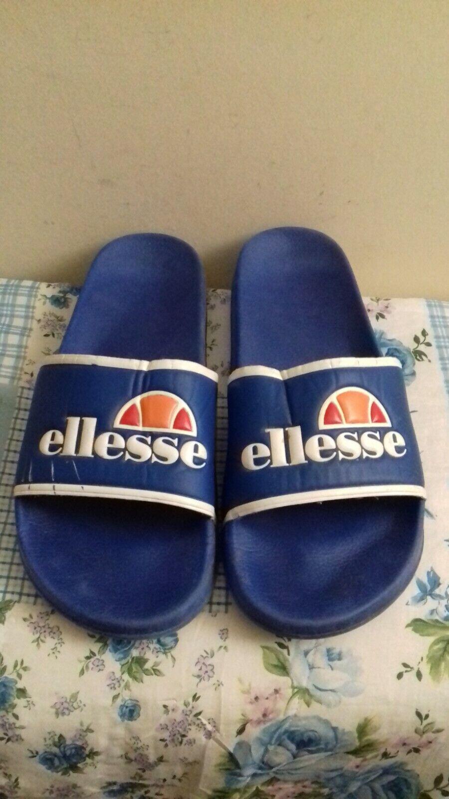 ELLESSE - DUKE Logo Sliders, Sandals, Blue Size UK 9 EU 43