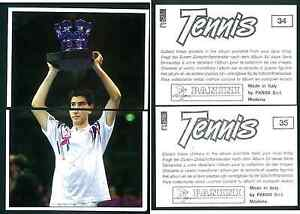 Pete-Sampras-USA-Tennis-1992-Edizioni-Panini-MINT-n-34-35-Rookie