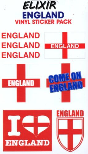 6 STICKERS//AUTOCOLLANTS ANGLETERRE UK 10X17CM 6 STICKERS I LOVE ENGLAND UK