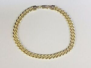 10k Yellow Gold Miami Cuban Curb Link 8.5