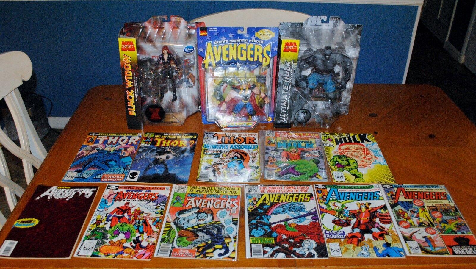 Vengadores viuda negra de acuerdo, Thor & Hulk-Figuras de acción y libros de historietas