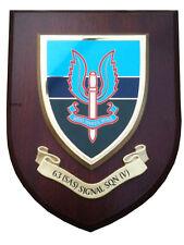 63 SAS Signals Wall Plaque UK Hand Made for MOD Regimental Shield