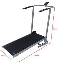 Manual Treadmill Cardio Walk Run Exercise Foldable 22w 54l 56h+counter
