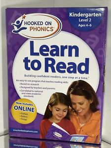 New Sealed Hooked On Phonics Learn To Read Kit Kindergarten Level 2 Ages 4-6