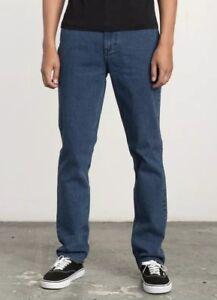 bda066fc9f7642 RVCA Daggers Denim Slim Blue Jeans Mens Industrial Ride Shop IRS ...