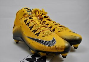 Details about NEW Nike Alpha Pro 2 34 D 705409 700 Size 10 Football Cleats Steelers Ylw