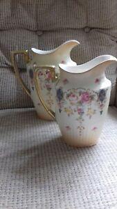 2-Crown-Devon-Fieldings-blush-ware-jugs-height-19-cms-amp-22-cms