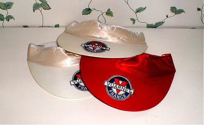 Vintage VUARNET VUARNET Vintage Sunglasses Golf VISOR Baseball CAP hat logo embroidered on WHITE 14f9ae
